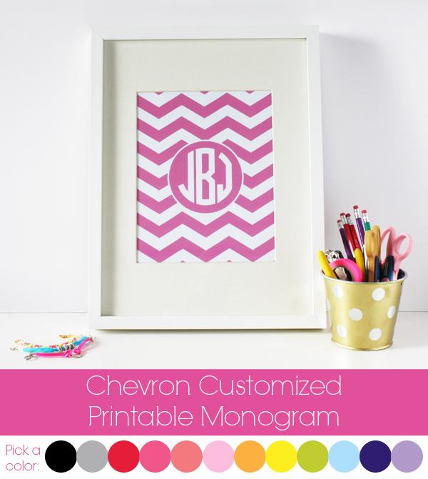 My new monogrammed binders with tutorial baked in the south for Free monogram printable