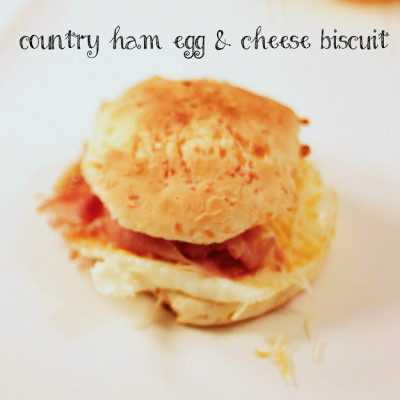country ham cheese ham egg biscuit