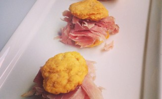 Sweet Potato Ham Biscuits