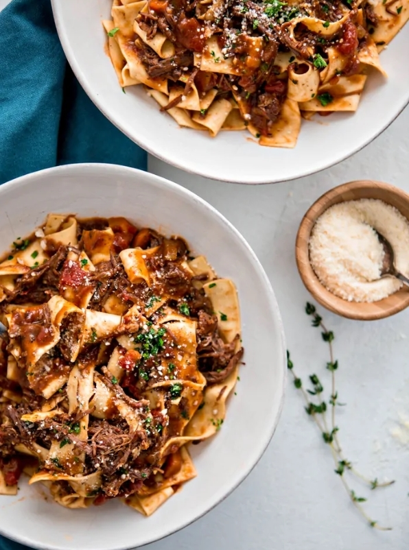 Instant Pot Italian Beef Ragu with Pappardelle