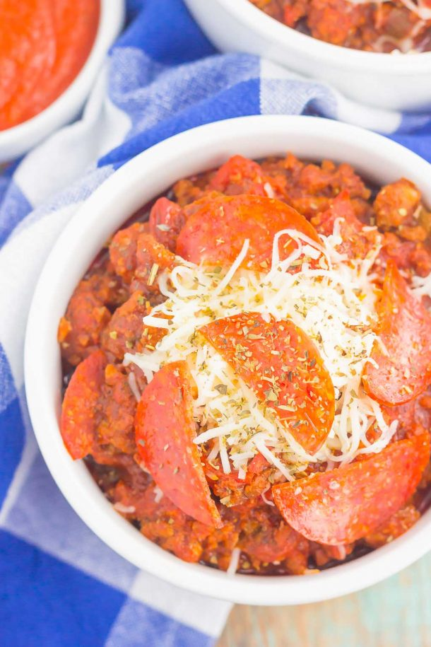 Slow Cooker Pizza Chili